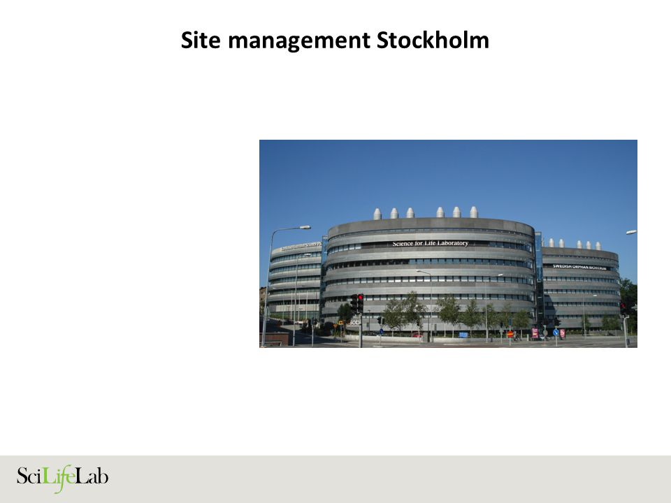 Site management Uppsala