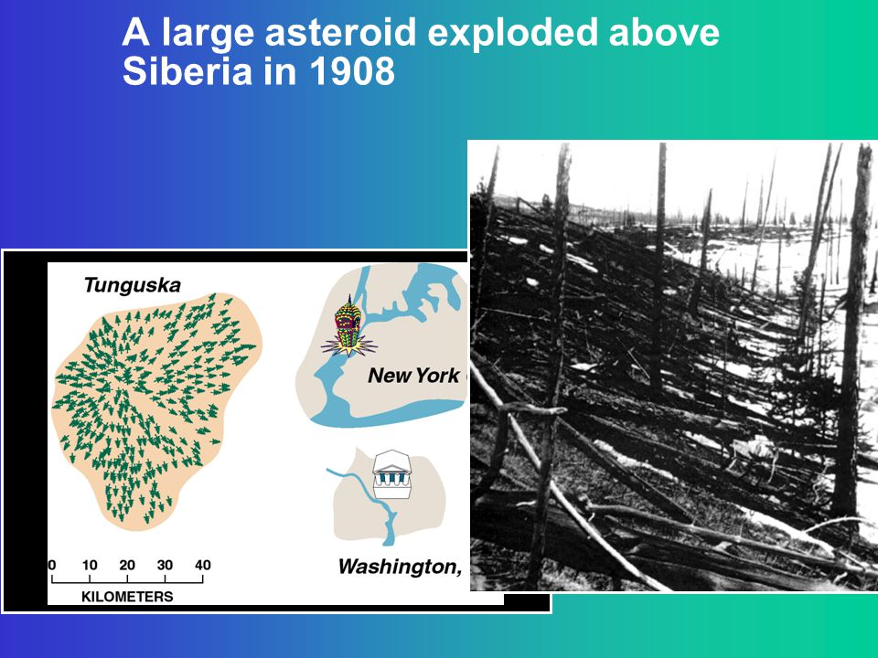A large asteroid exploded above Siberia in 1908