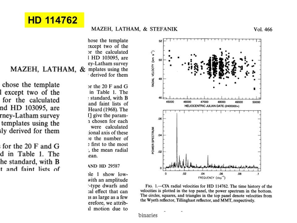 Tsevi Mazeh: Leuven-Spectrospic binaries 49 HD 114762