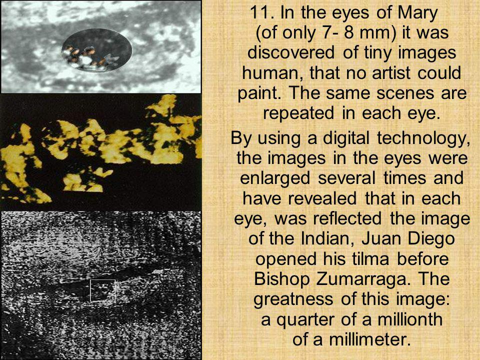 10. The scientists have discovered that the eyes of Mary have all three effects of refraction of the image of a human eye.