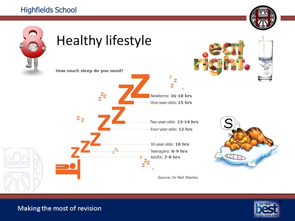Making the most of revision Healthy lifestyle
