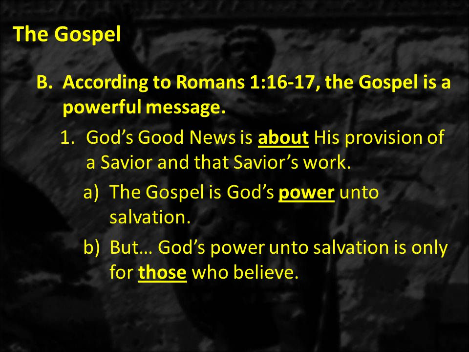 The Gospel 2)1 Corinthians 15:4-10 – Christ was raised on the third day.