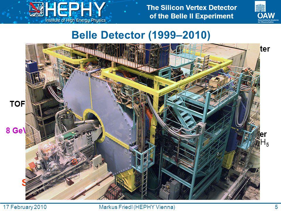 The Silicon Vertex Detector of the Belle II Experiment 26Markus Friedl (HEPHY Vienna)17 February 2010 Beam Tests KEK (Apr 2005) PSI (Aug 2005, Aug 2006) KEK (Nov 2007, Nov 2008) CERN (June 2008, September 2009)