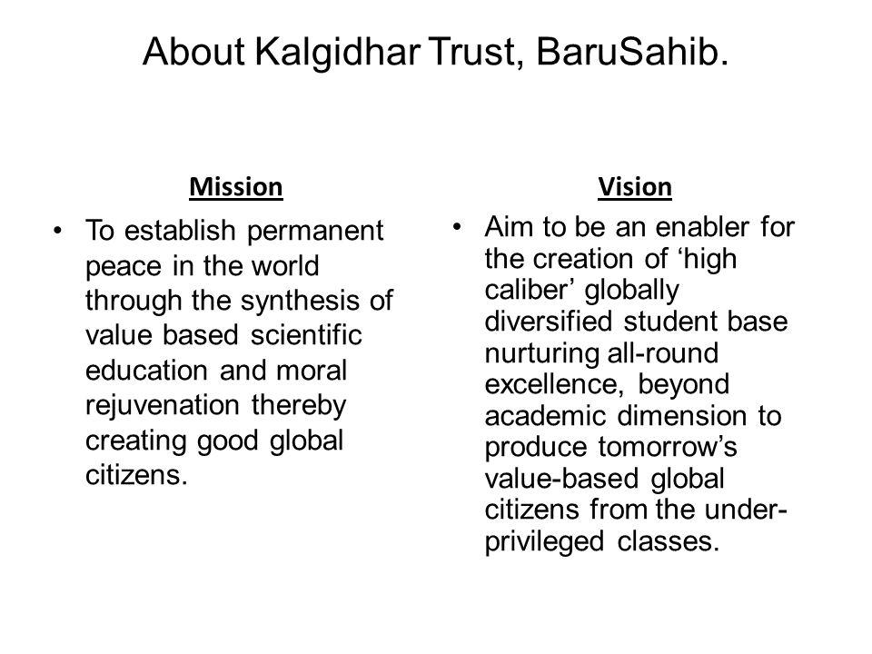 About Kalgidhar Trust, BaruSahib.