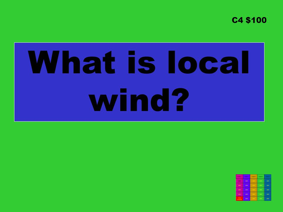 C4 $100 What is local wind