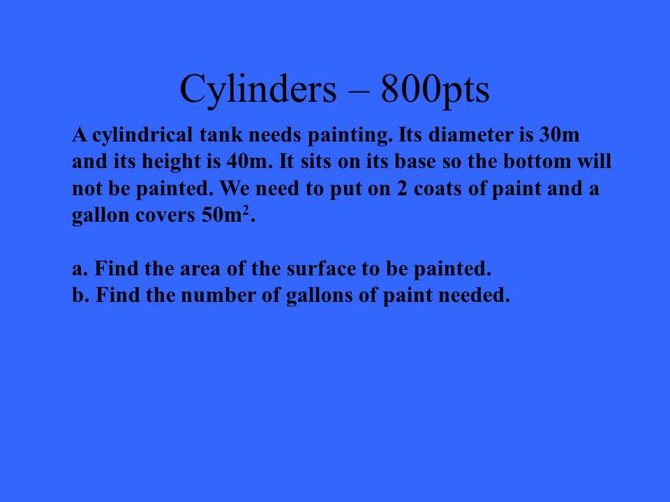 Cylinders – 600pts 588  unit 3  1847.26 unit 3