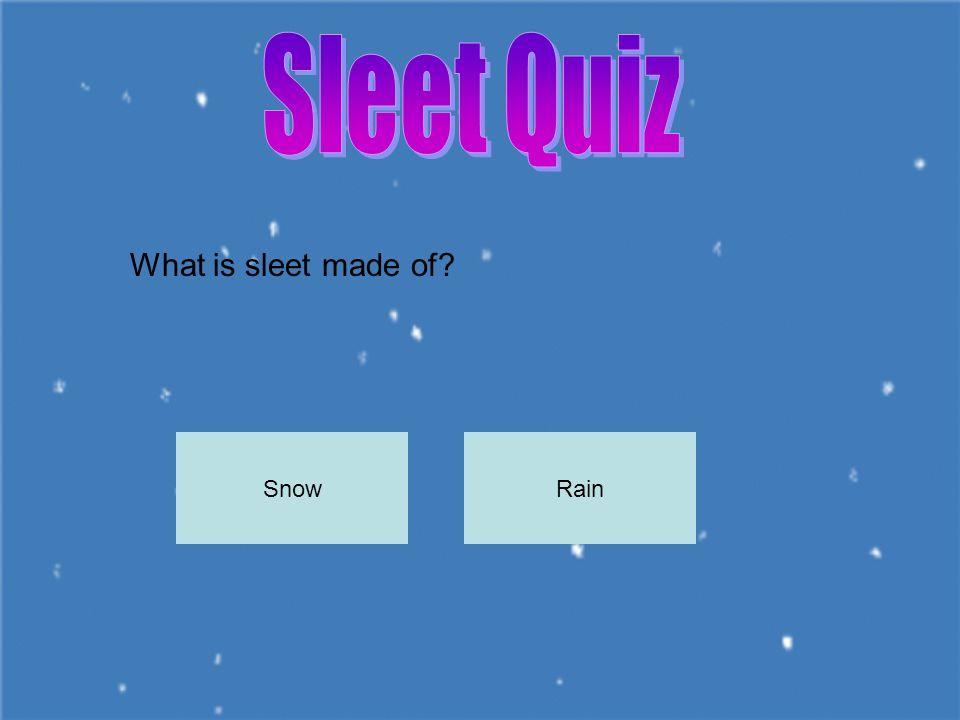 Sleet can be found during which Season? WinterSummer