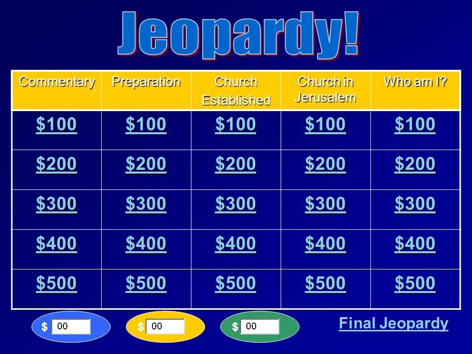 LET'S PLAY JEOPARDY!! Acts