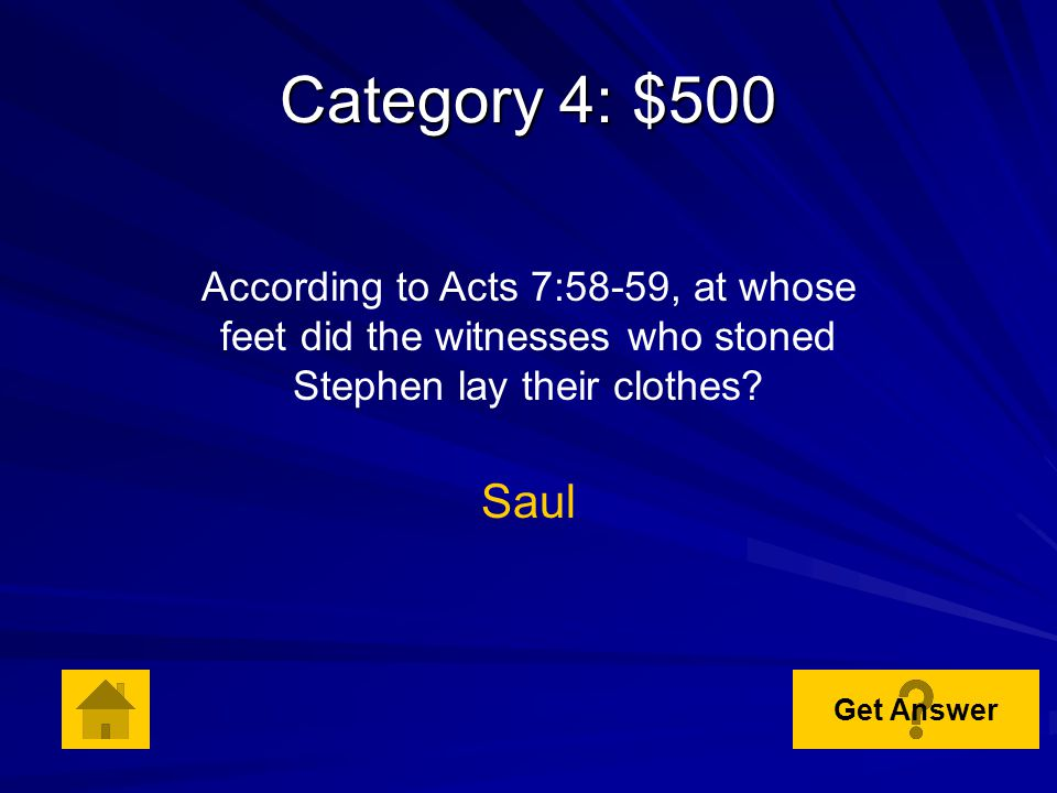 Category 4: $400 In Acts 6:1, who complained against the Hebrews The Hellenists Get Answer