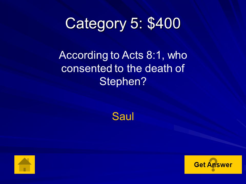 Category 5: $300 In Acts 6:5, who is described as a man full of faith and the Holy Spirit.