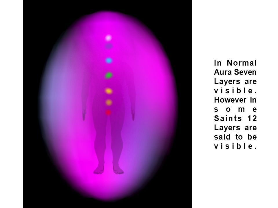 Layers of Aura In Normal Aura Seven Layers are visible. However in some Saints 12 Layers are said to be visible.