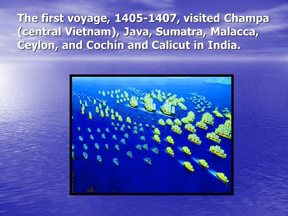 In Hormuz, Zheng He split his fleet.