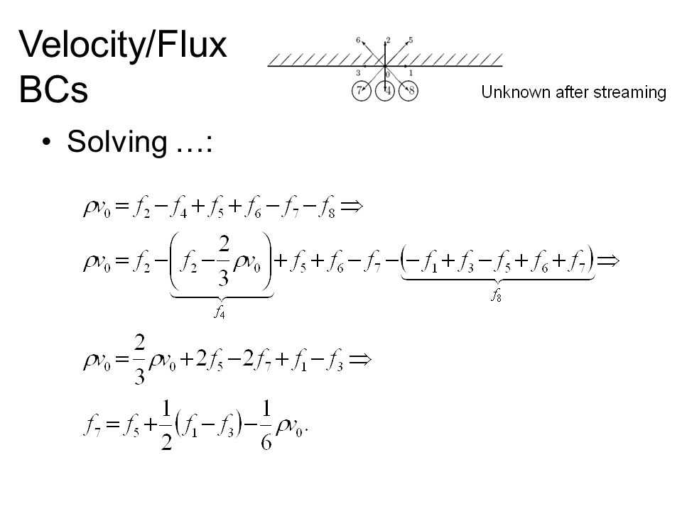 Solving …: Velocity/Flux BCs