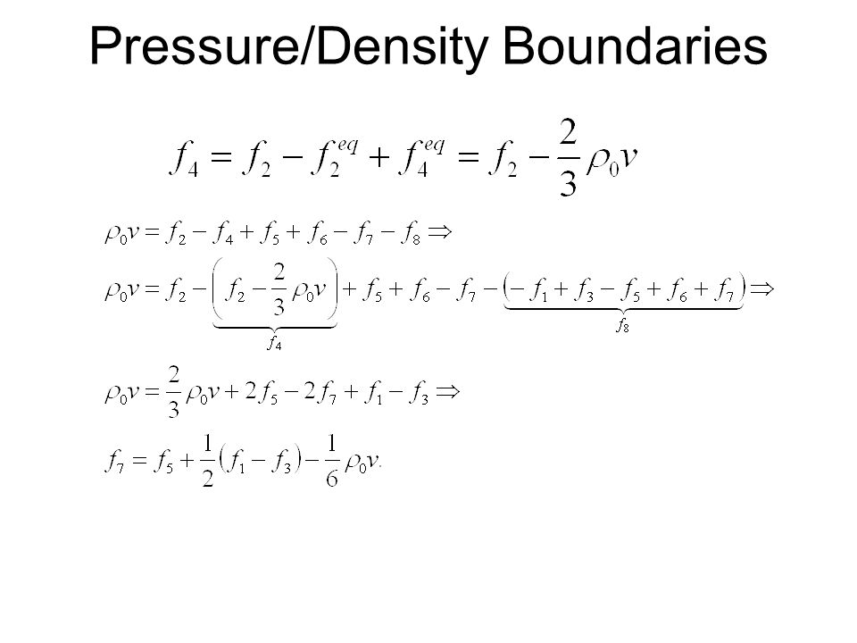 Pressure/Density Boundaries