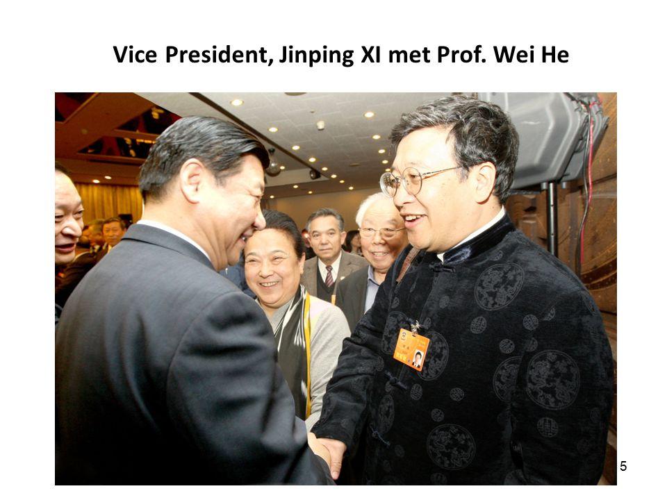 15 Vice President, Jinping XI met Prof. Wei He