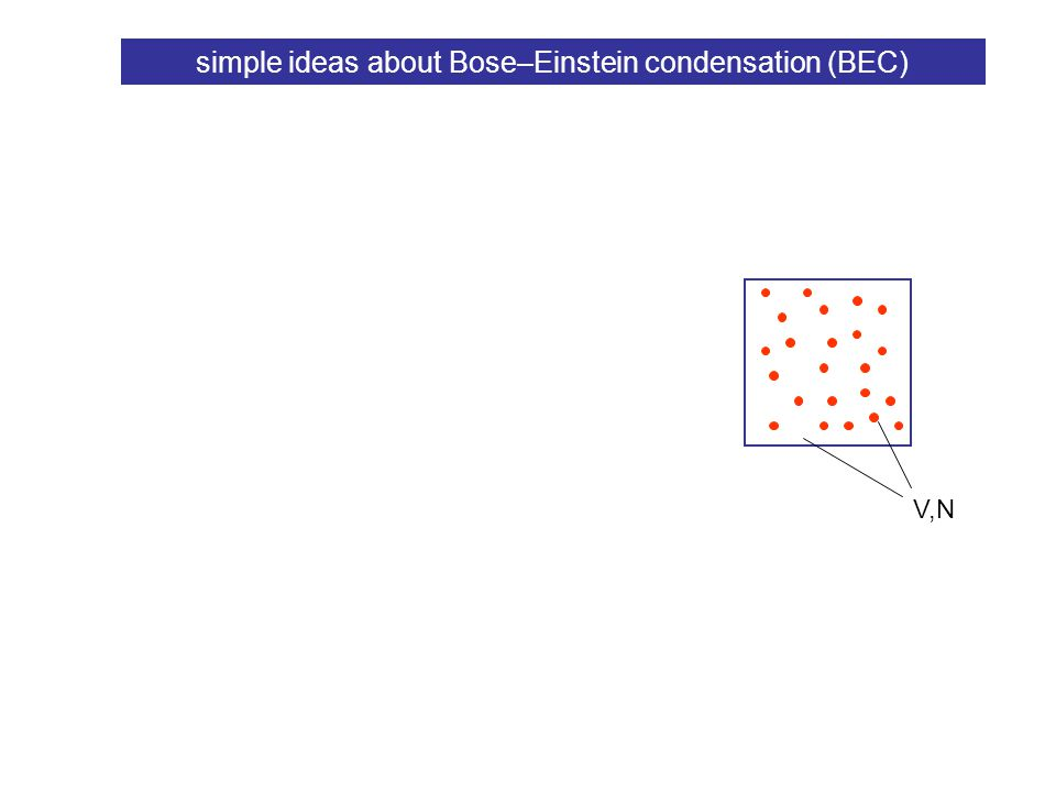 simple ideas about Bose–Einstein condensation (BEC) V,N density of states