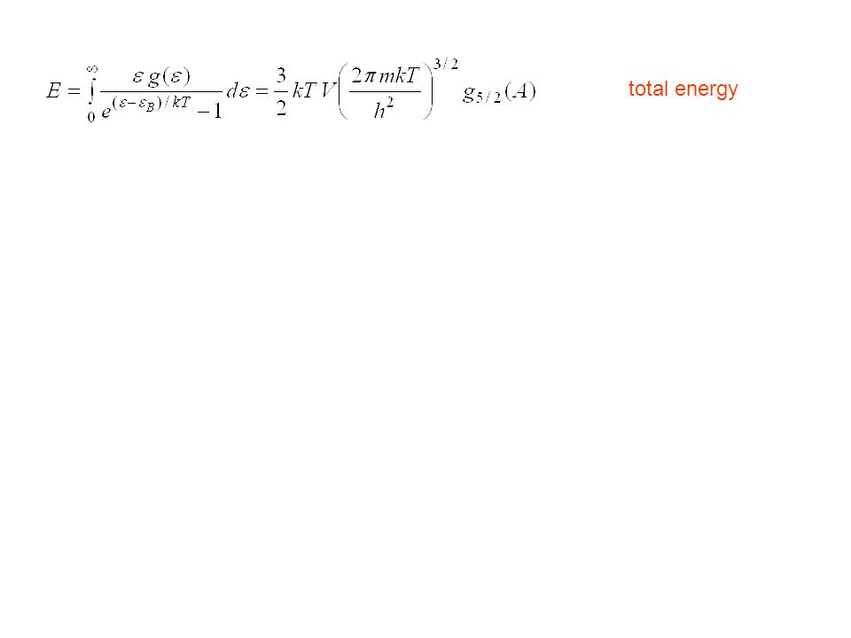 total energy average energy per atom atom density condensation on the ground state