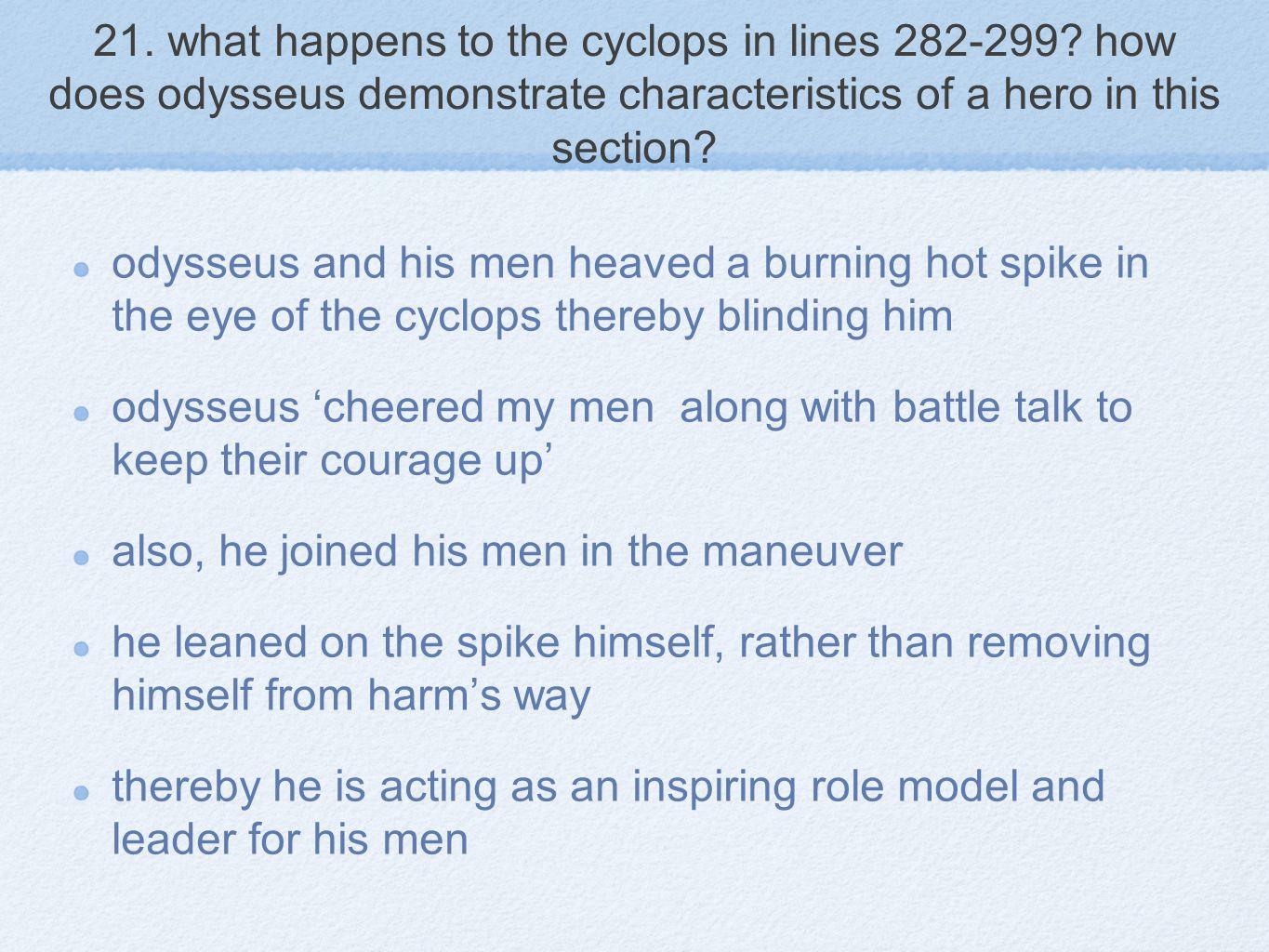 21.what happens to the cyclops in lines 282-299.