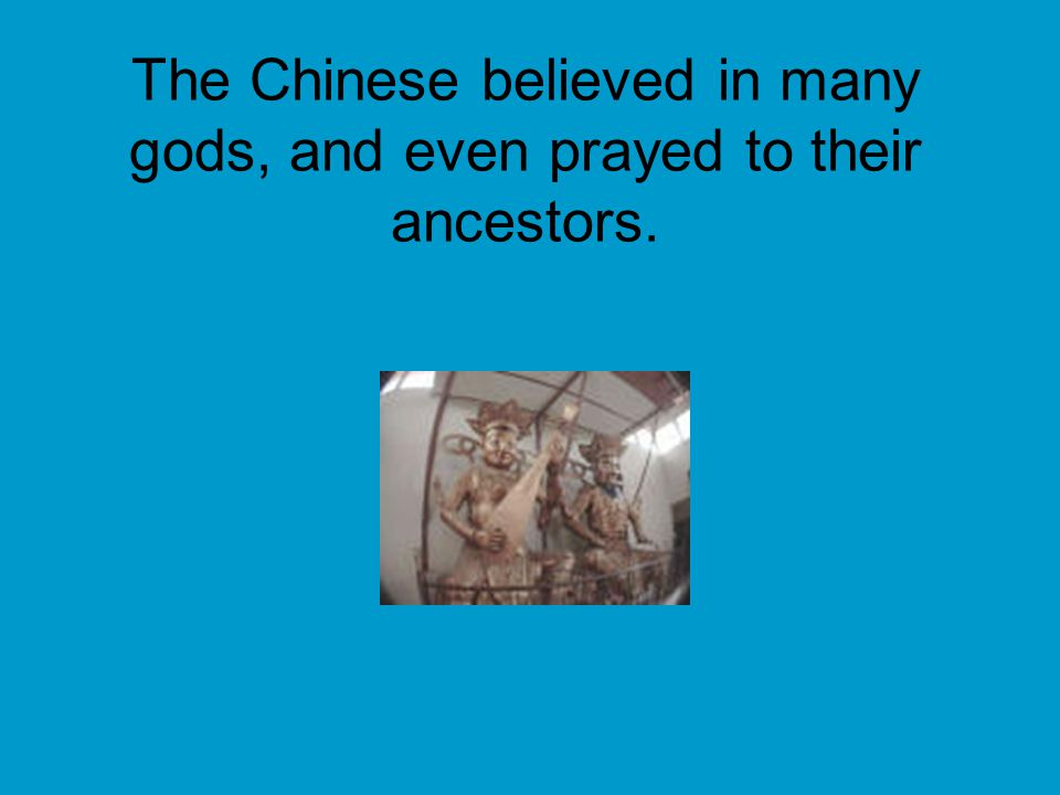 The Chinese would ask questions about the future using oracle bones.