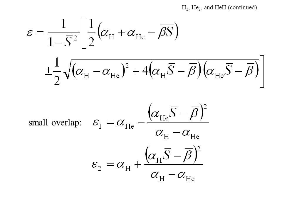 small overlap: