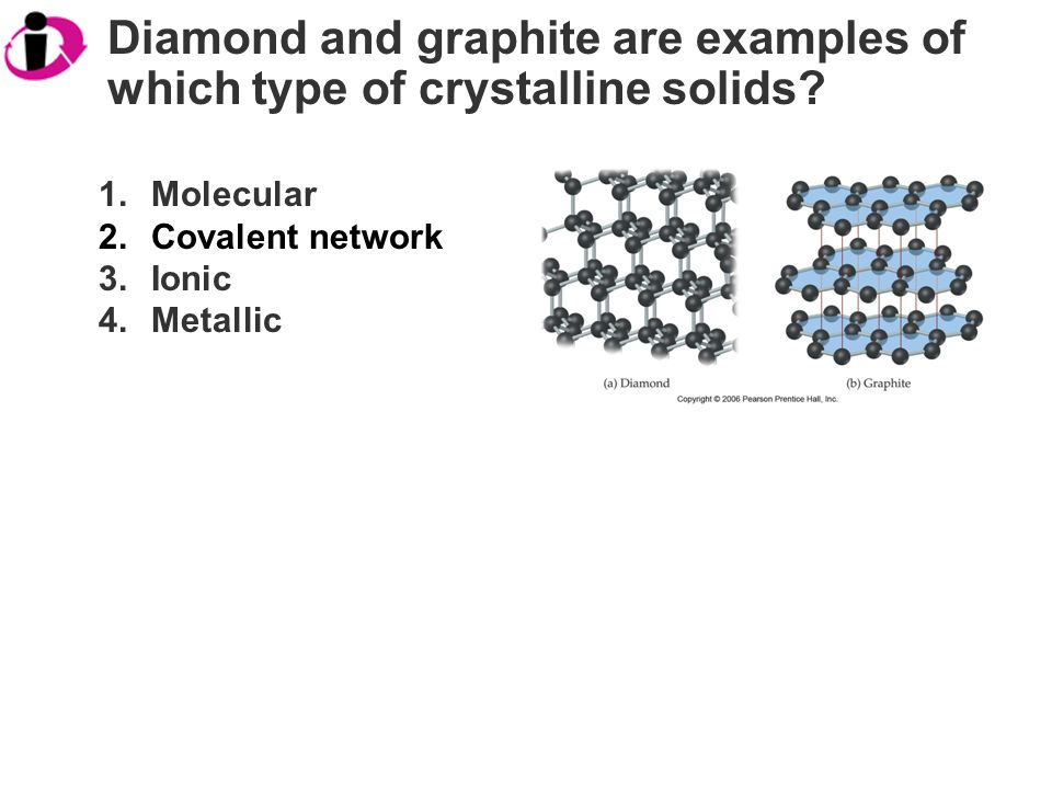 Diamond and graphite are examples of which type of crystalline solids.
