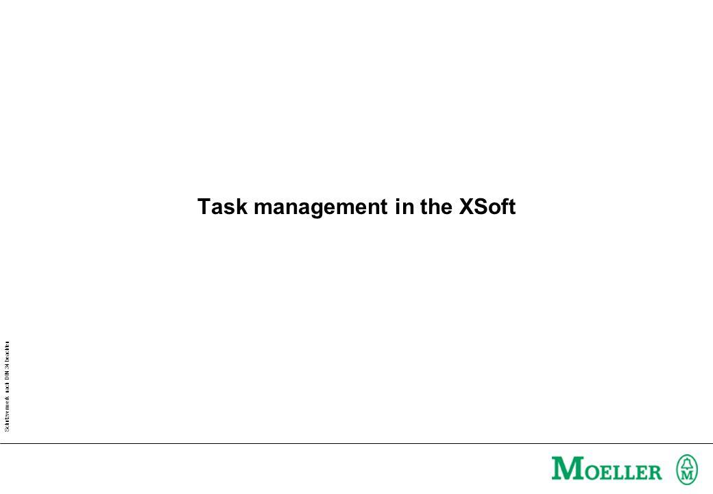 Schutzvermerk nach DIN 34 beachten Task management in the XSoft