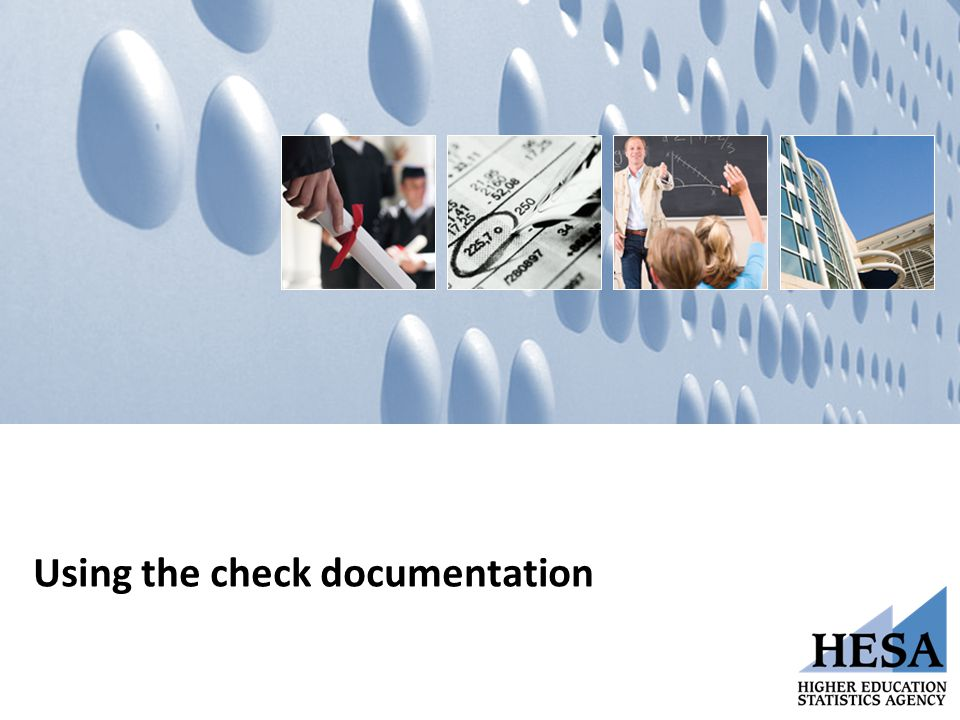 Using the check documentation