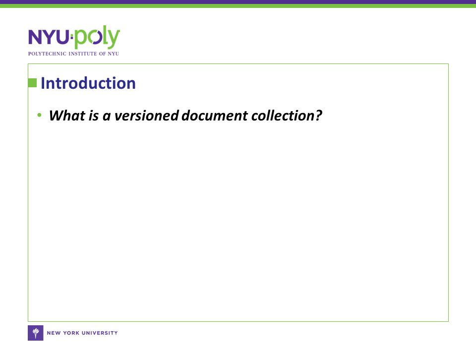 What is a versioned document collection? Introduction