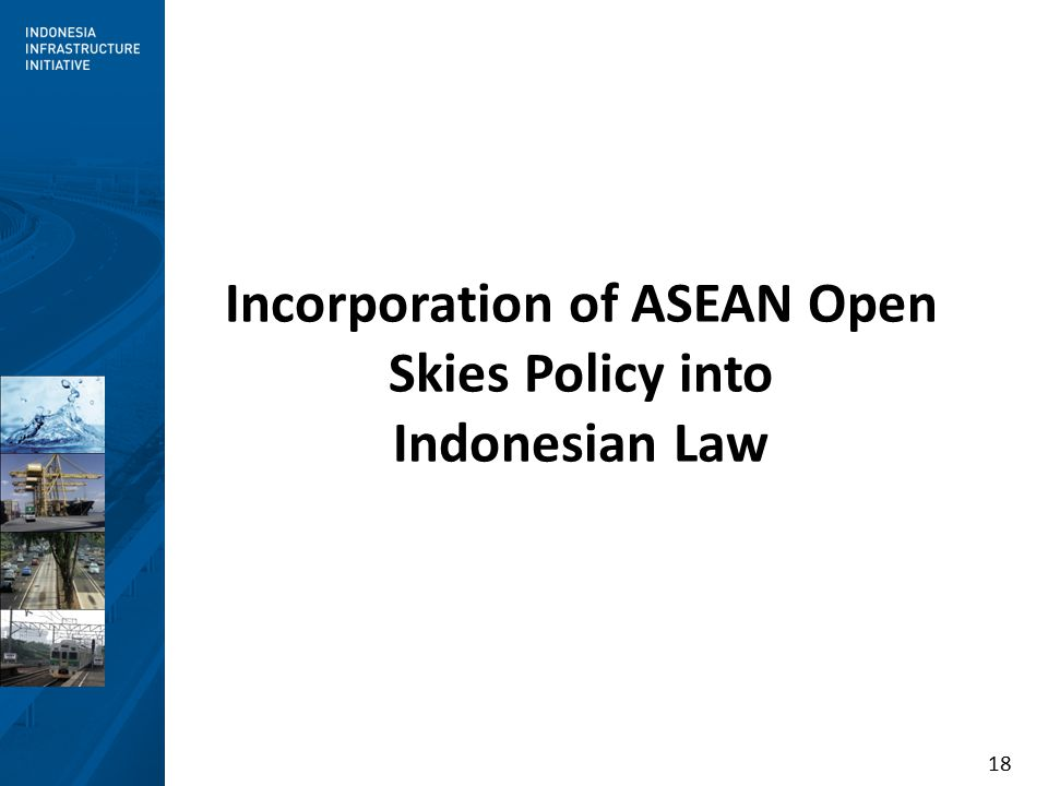 18 Incorporation of ASEAN Open Skies Policy into Indonesian Law