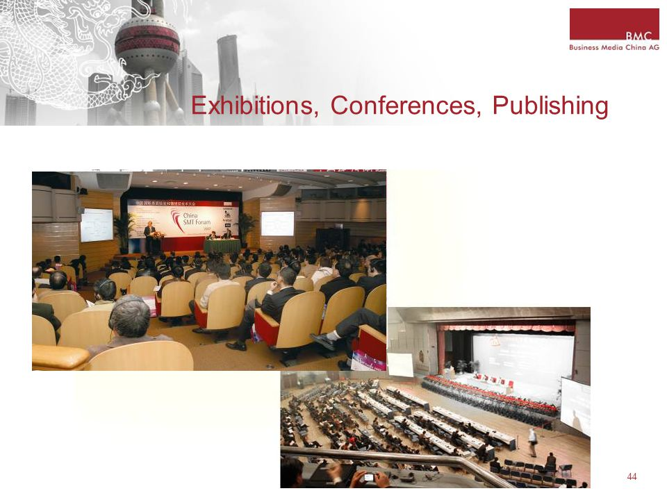 44 Exhibitions, Conferences, Publishing