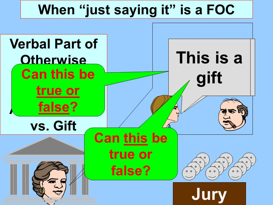 When just saying it is a FOC Verbal Part of Otherwise Legally Ambiguous Act: Bailment vs.
