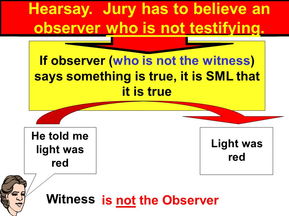 Definition of Declarant An observer who is not the testifying witness is called a declarant