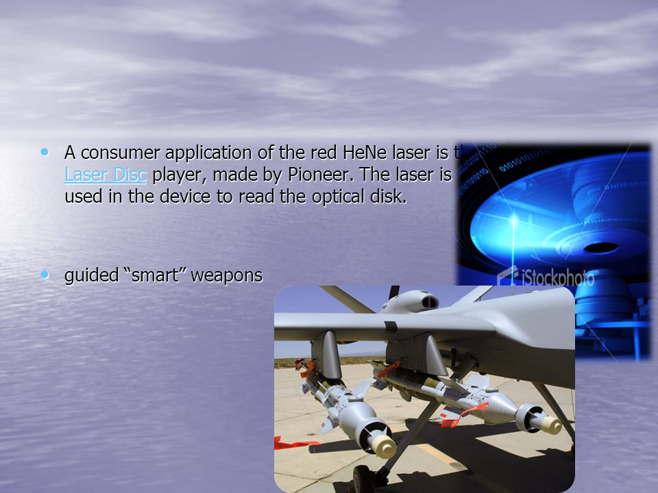 Applications of He-Ne laser The Narrow red beam of He-Ne laser is used in supermarkets to read bar codes. The Narrow red beam of He-Ne laser is used i
