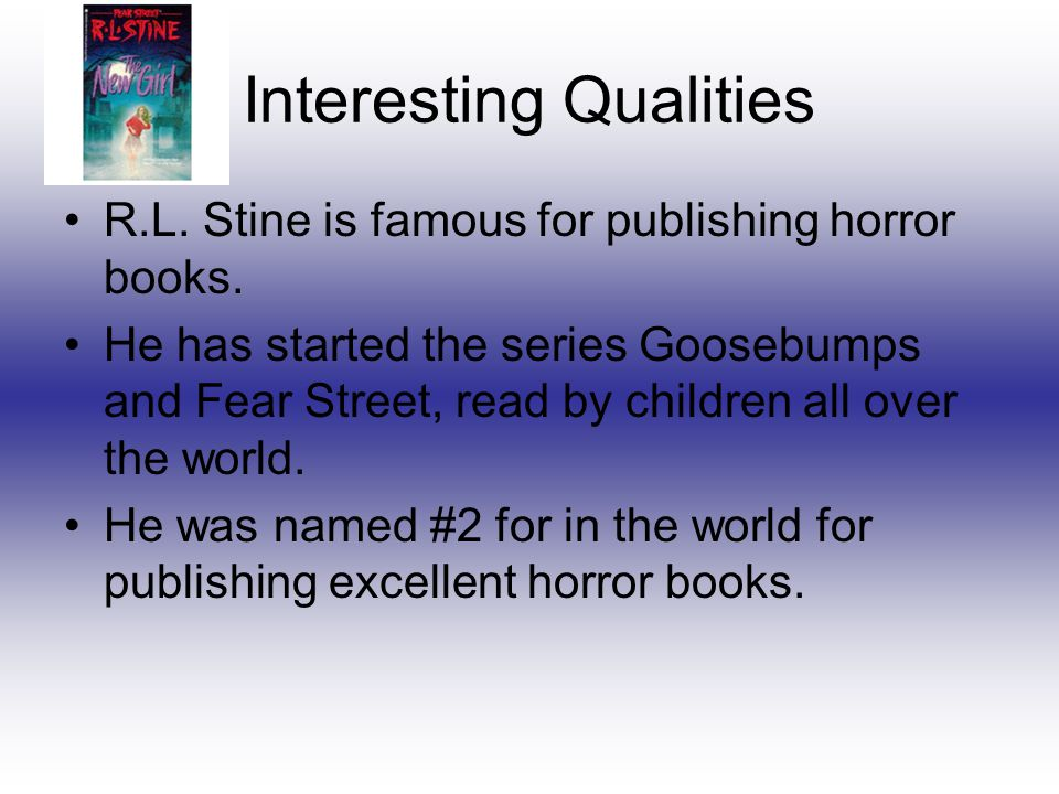 My Coupon 15% off R.L. Stine Horror Book Get it while it's hot!
