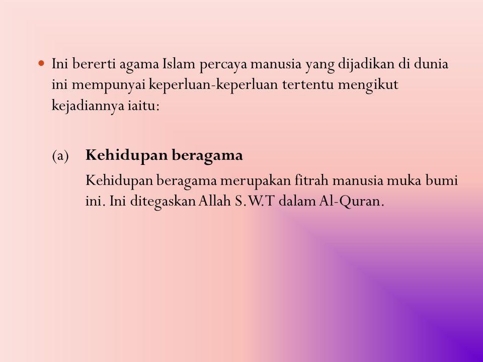 Sesungguhnya agama yang diredhai di sisi Allah S.W.T hanyalah Islam (Surah Al Imran : 19) Dengan mengenali pencipta Nya, manusia akan mensyukuri keunikan kejadian manusia dan menyebabkannya menghargai setiap bakat, kebolehan dan keistimewaan yang telah dikurniakan oleh Allah S.W.T kepada setiap hambanya.