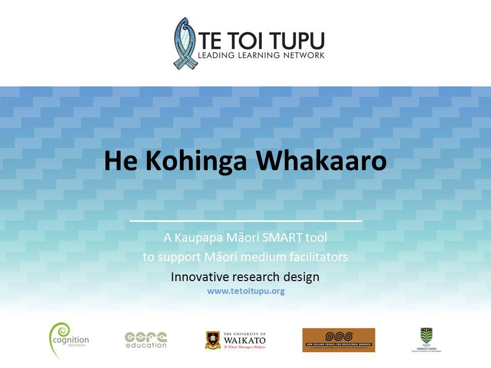 Overview Introduction SMART tools He Kohinga Whakaaro Development Big ideas How is the tool useful.