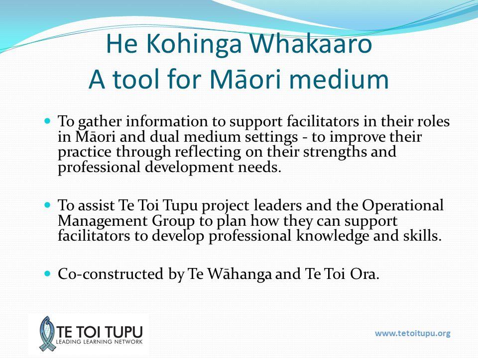 www.tetoitupu.org Te Tongi a Tāwhiao Te Toi Tupu i ahu mai i Hawaiki (foundation) Ora te Toi (sustaining) Tupu te Toi (growth, act, adapt) Whanake te toi (development / decide)