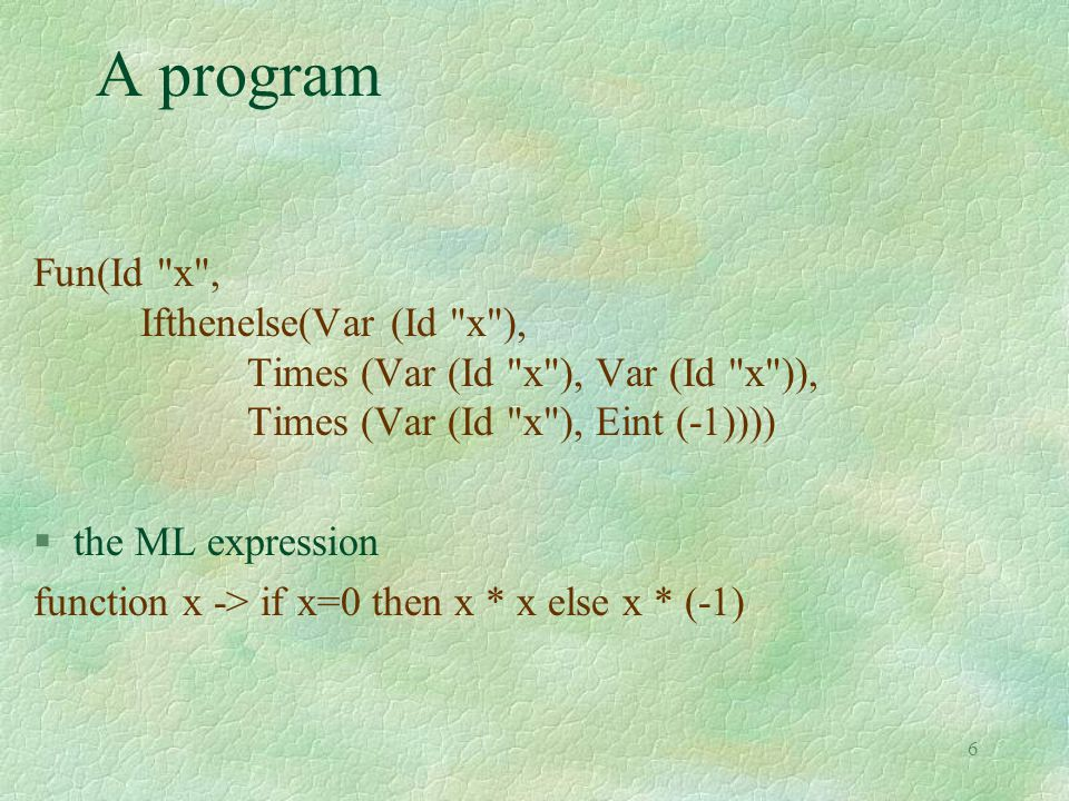 6 A program Fun(Id