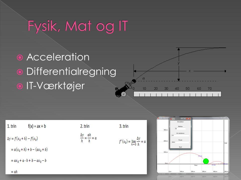  Acceleration  Differentialregning  IT-Værktøjer