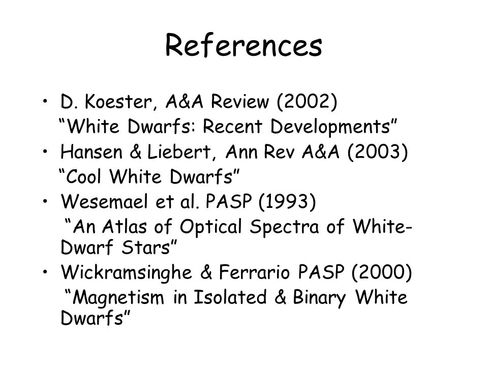 References D.