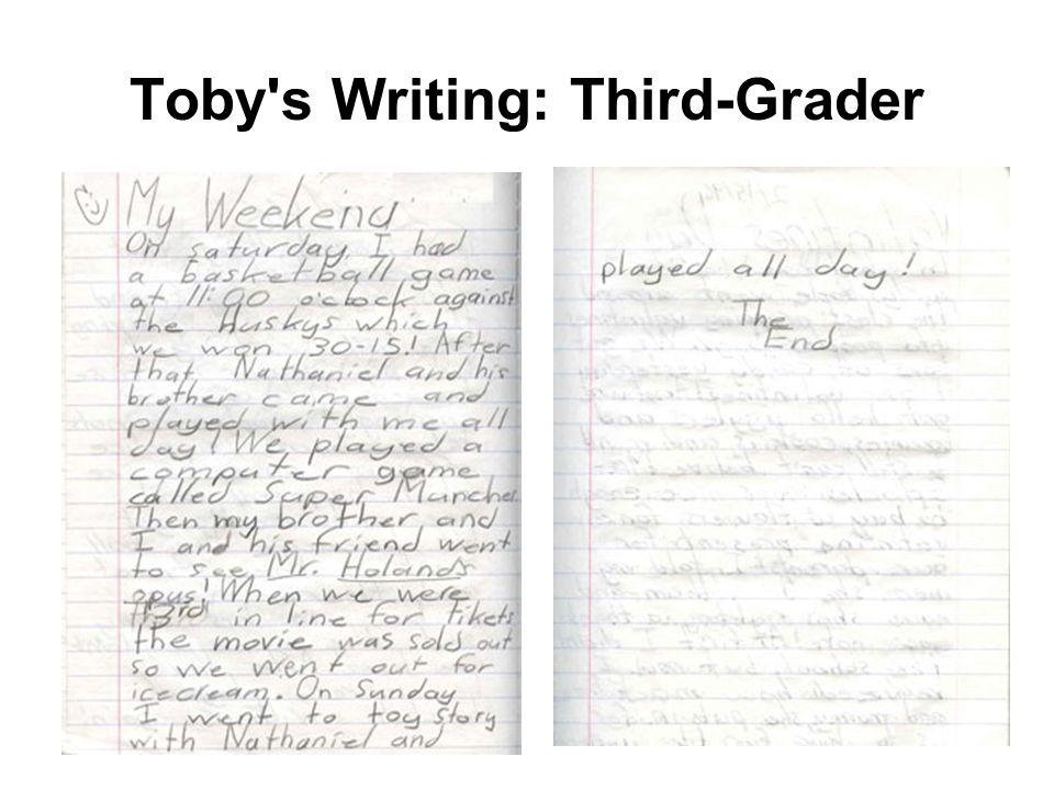 Toby's Writing: Third-Grader