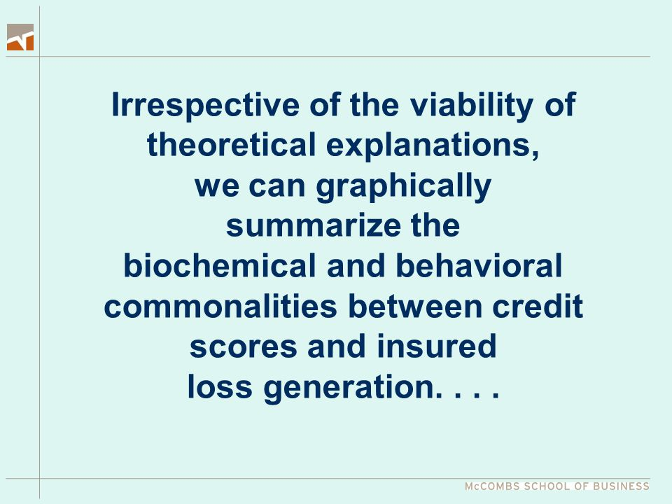 Irrespective of the viability of theoretical explanations, we can graphically summarize the biochemical and behavioral commonalities between credit sc