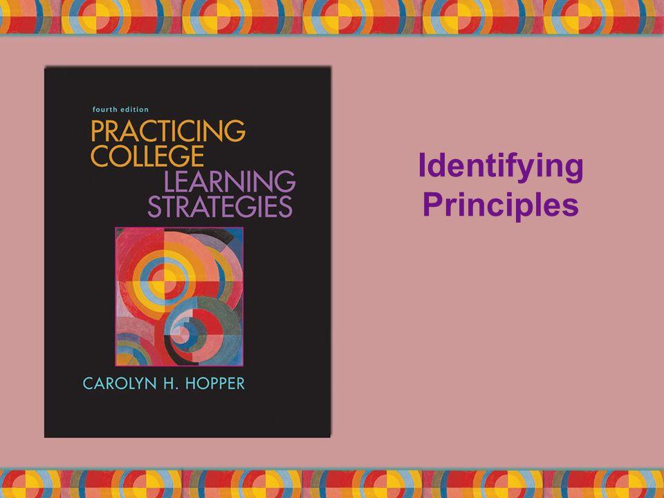 Identifying Principles