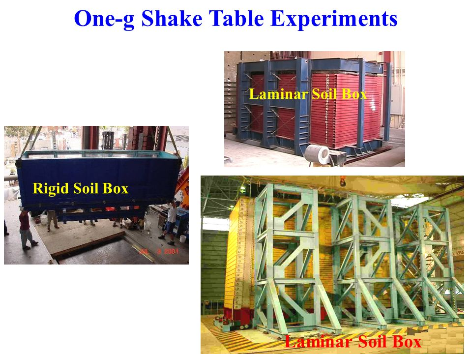 Recommendations for Future Research  Additional shake table experiments can be conducted using a large laminar box and a single pile of different sizes and different levels of stiffness to further study pile pinning effects.