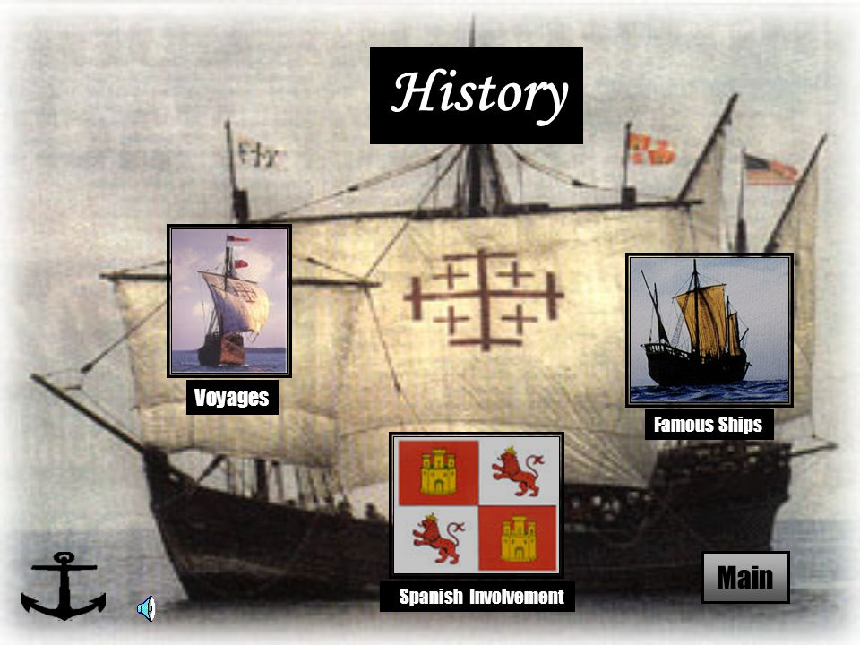 History Spanish Involvement Voyages Main Famous Ships