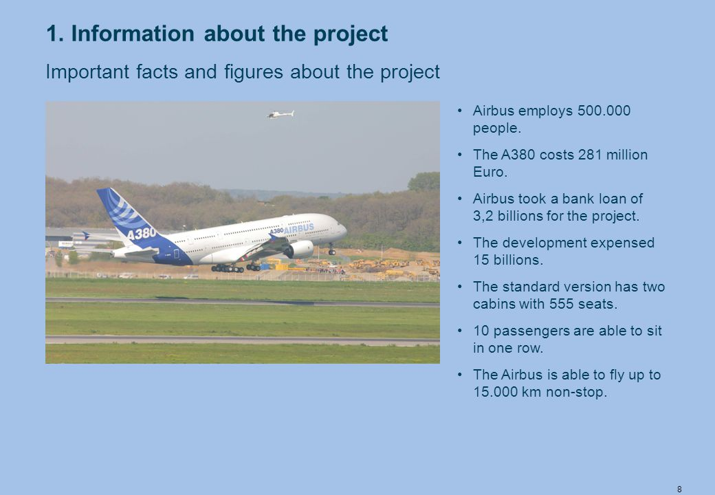 9 The problems Many tests which the super Airbus has to pass are very complicated.