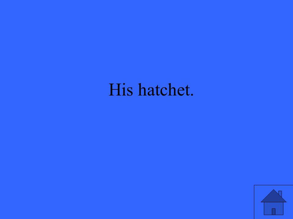 His hatchet.