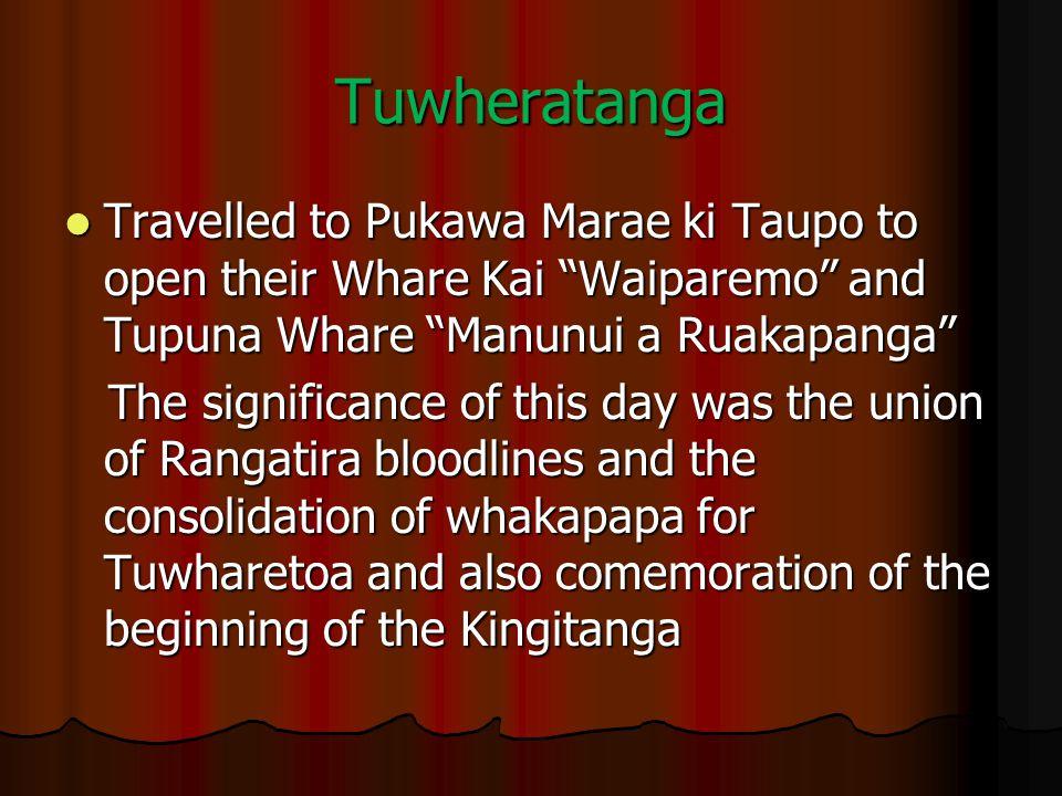 """Tuwheratanga Travelled to Pukawa Marae ki Taupo to open their Whare Kai """"Waiparemo"""" and Tupuna Whare """"Manunui a Ruakapanga"""" Travelled to Pukawa Marae"""