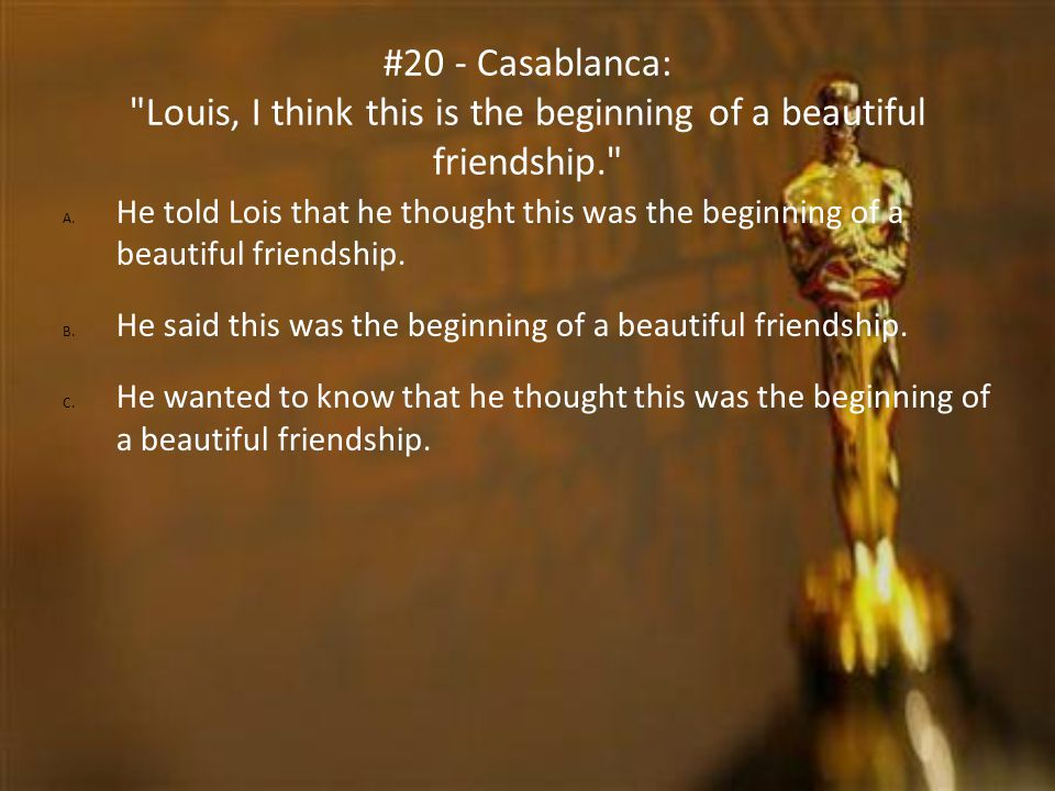 #20 - Casablanca: