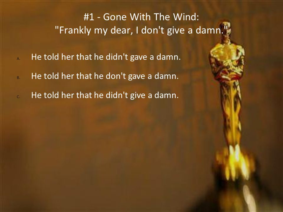 #1 - Gone With The Wind:
